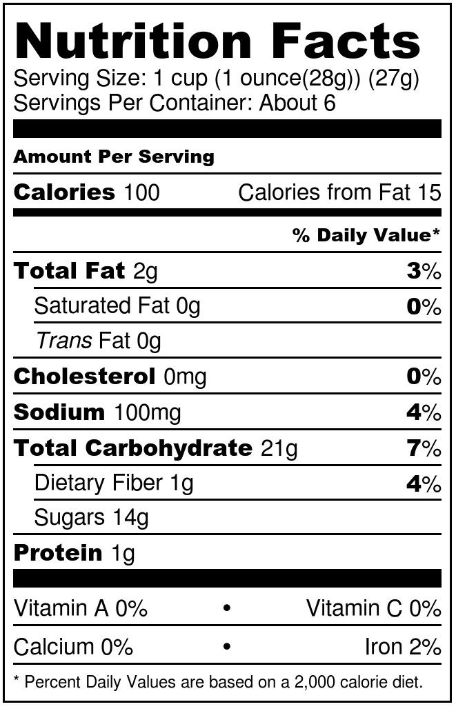 Ingredients, Nutritional Info